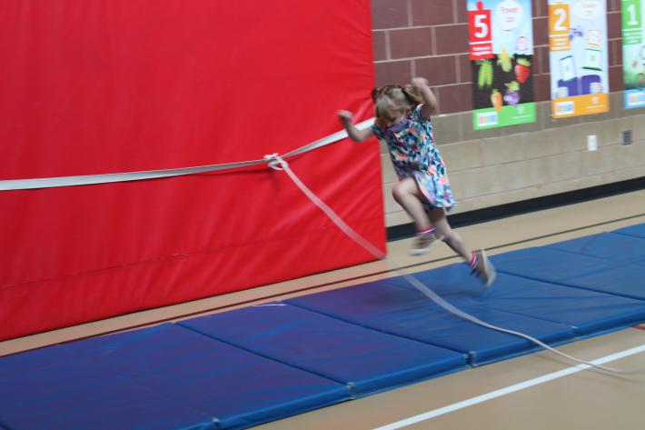 Jumping Over the Rope in PE